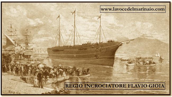 regio incrociatore Flavio Gioia dopo il varo - www.lavocedelmarinaio.com