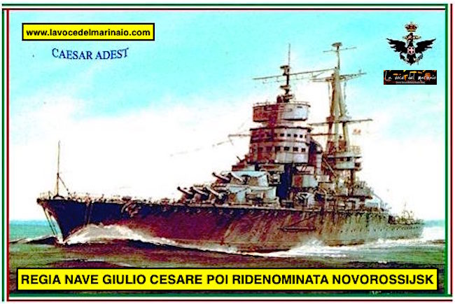 3.2.1949 consegna regia nave Giulio Cesare alla marina russa - www.lavocedelmarinaio.com