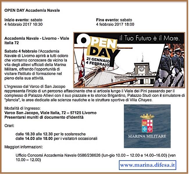 4.2.2017 Accademia Navale di Livorno Open Day - www.lavocedelmarinaio.com