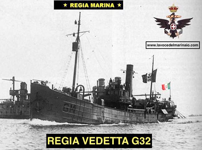 7.2.1918 regia vedetta G32 e Catello Giordano - www.lavocedelmarinaio.com