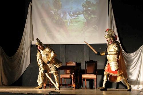 Franco Colaiemma in uno spettacolo a Sala Consilina