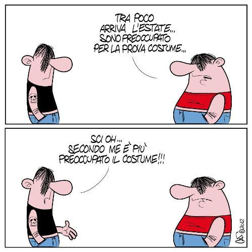 la prova costume - vignetta di Marco Calcinaro in arte Sci Oh - Copia
