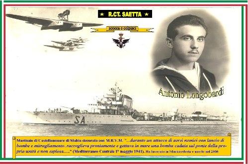 1.5.1941 -Marinaio Antonio Longobardi - Cacciatorpediniere Saetta - www.lavocedelmarinaio.com