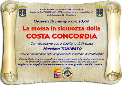 16.5.2013- La messa in sicurezza della Costa Concordia - www.lavocedelmarinaio.com