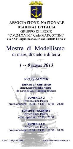 1-9.6.2013 modellismo navale a Lecce
