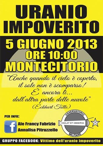 5.6.2013 Uranio impoverito a Roma