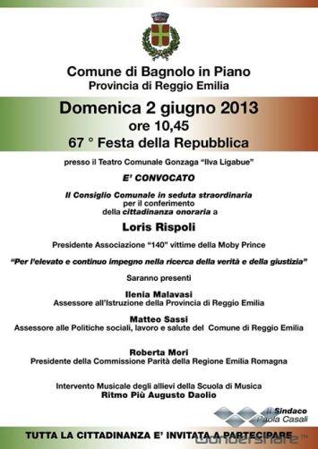 Festa della Repubblica a Bagnolo in Piano - www.lavocedelmarinaio.com - copia