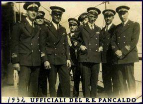 Ufficiali a bordo del PANCALDO 1932 - www.lavocedelmarinaio.com - Copia