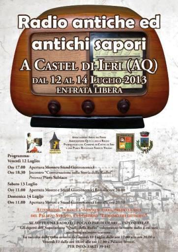12-14.7.2013 Radio Antiche ed antichi sapori - www.lavocedelmarinaio.com