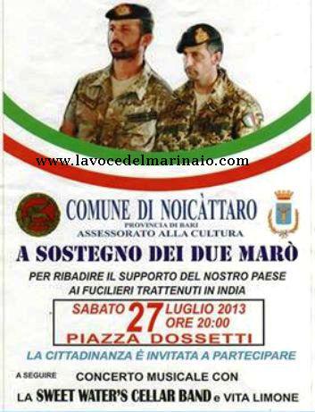 27.7.2013 Noicattaro per i due marò