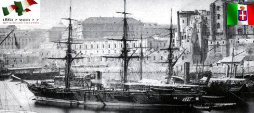 Corvetta ad elica di II rango Etna varata a Catellammare di Stabia nel 1862 - www.lavocedelmarinaio.com