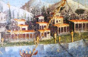 affresco di villa marittima (da Pompei in Museo Nazionale di Napoli) - Copia