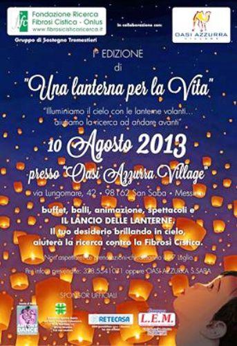 10.8.2013 una lanterna per la vita