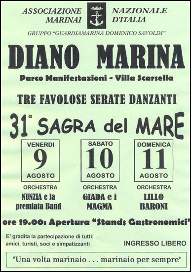 9-11.8.2013 Diano Marina www.lavocedelmarinaio.com