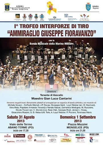 Banda della Marina ad Aabno Termo e a Monselice 31.8 e 1.9.2013 - www.lavocedelmarinaio.com