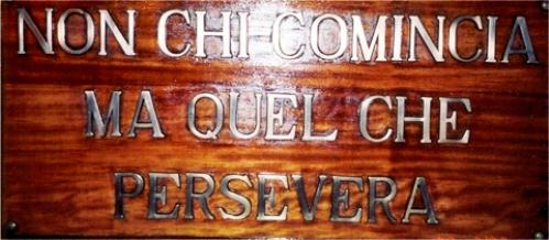 Leonardo da Vinci e motto di Nave Vespucci