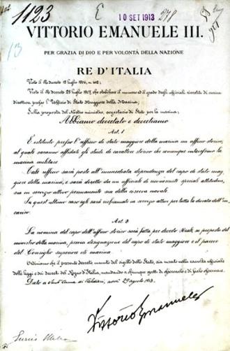 Nascita ufficio storico della Marina (decreto attuativo) foto USMM