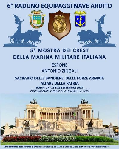 27-29.9. 2013 mostra crest al Vittoriano di  Roma - www.lavocedelmarinaio.com