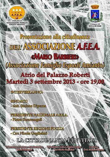 3.9.2013 Associazione AFEA Mario Barbieri