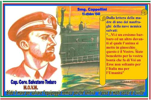 15.10.1040 Salvatore Todaro e il sommergibile Cappellini - www.lavocedelmarinaio.com