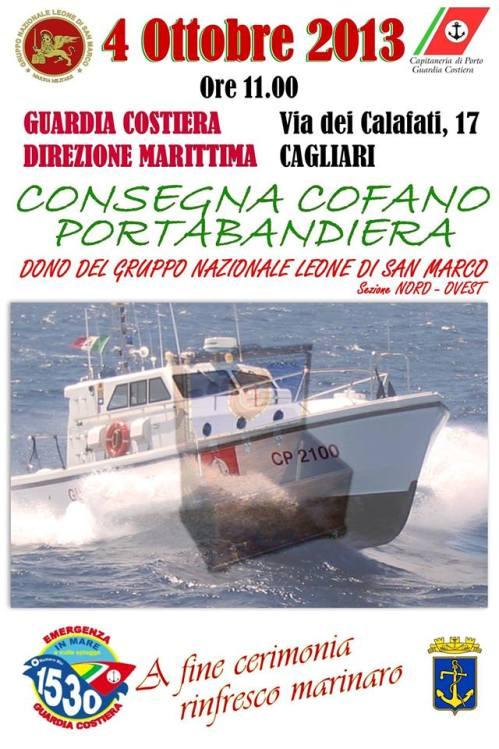 4 ottobre 29013 - Consegna teca portabandiera a Cagliari - www.lavocedelmarinaio.com