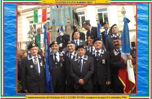 8.10.2013 Anmi Stabia a Sant'Agnello per commemorare il marinaio Salvatore Russo- WWW.LAVOCEDELMARINAIO.COM