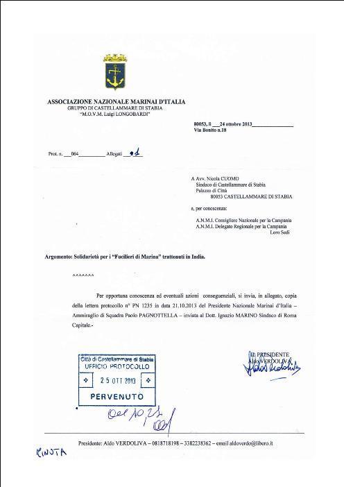 Lettera anmi c.mare inviata al sindaco - www.lavocedelmarinaio.com
