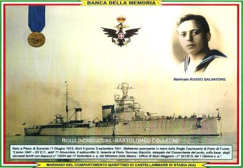 Marinaio Russo e il regio incrociatore Colleoni - www.lavocedelmarinaio.com
