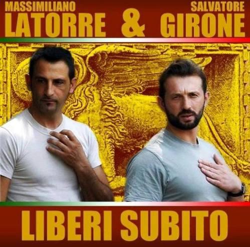 Massimiliano Latorre e Salvatore Girone liberi subito - www.lavocedelmarinaio.com