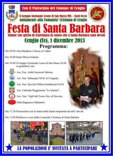 1.12.2013 S.Barbara a  Cengio - www.lavocedelmarinaio.com