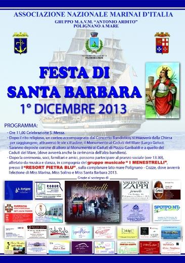 1.12.2013, Santa Barbara a Polignano a Mare (Bari) - www.lavocedelmarinaio.com