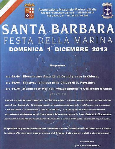 1.12.2013, Santa Barbara a Ventimiglia - www.lavocedelmarinaio.com