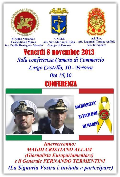 8.11.2013 a Ferrara per Massimiliano e Salvatore - www.lavocedelmarinaio.com