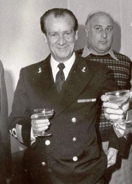 Vincenzo Di Nitto il giorno dellìinaugurazione AGIP Ravenna (1975) - foto Carlo Di Nitto p.g.c. a www.lavocedelmarinaio.com