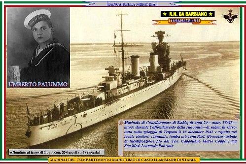 13.12.1941 marinaio Umberto Palummo - Nave Da Barbiano - www.lavocedelmarinaio.com - Copia