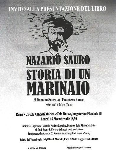 16.12.2013 Nazario Sauro Storia di  un Marinaio - www.lavoce delmarinaio.com