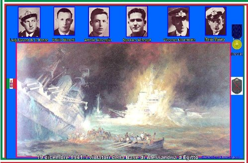 19.12.1941 i violatori della base di Alessandria - www.lavocedelmarinaio.com
