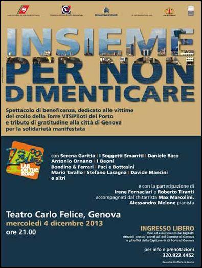 4.12.2013 a Genova Insieme per non dimenticare- www.lavocedelmarinaio.com