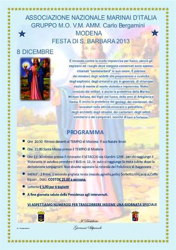 8.12.2013, Santa Barbara a Modena - www.lavocedelmarinaio.com