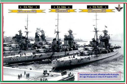 29.3.1941-incrociatori-affondati-a-Capo-Matapan - www.lavocedelmarinaio.com