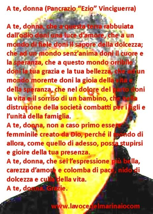A te donna (in memoria di Giovanna Reggiani) di Pancrazio Ezio Vinciguerra - www.lavocedelmarinaio.com