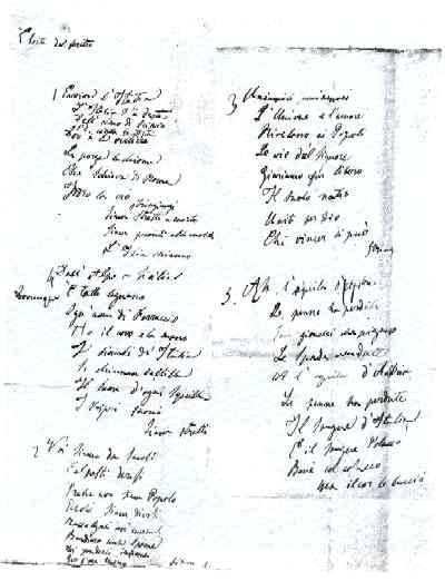 Il manoscritto dell'Inno Fratelli d'Italia