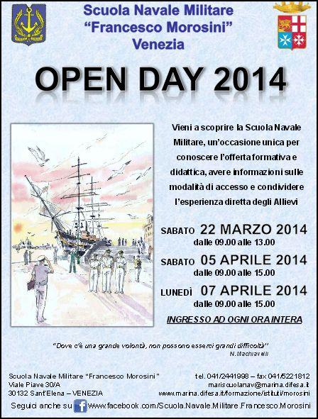 Scuola navale Morosini Venezia - open day 2014 dal 22.3.2014 - www.lavocedelmarinaio.com