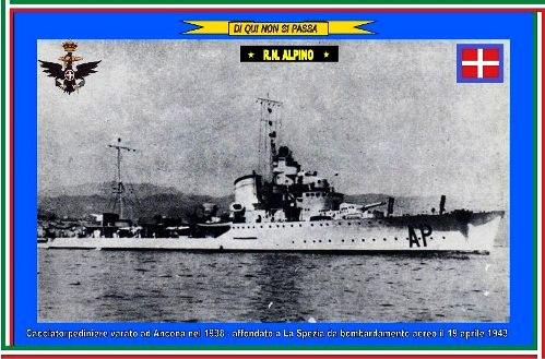 19 aprile 1943 affondamento regia Nave Alpino - www.lavocedelmarinaio.com