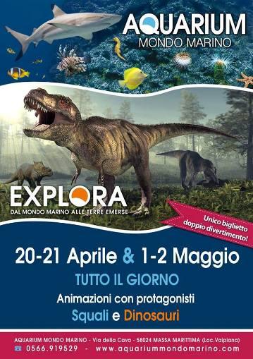 20-21 aprile e 1-2 maggio 2014 Explora acquariummomdomarino di Massa Marittima - www.lavocedelmarinaio.com