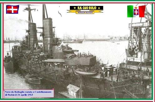 24.4.1913Varo-nave-Caio-Duilio-www.lavocedemarinaio.com_