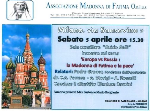 5.4.2014 a Milano - europa vs russia la Madonna di Fatima e la pace (www.fatima.it)