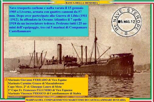 7.4.1918 nave sterope www.lavoedelmarinaio.com