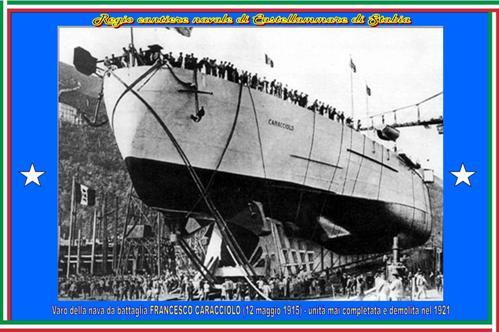 12 maggio 1915 -varo regia nave Caracciolo - www.lavocedelmarinaio.com