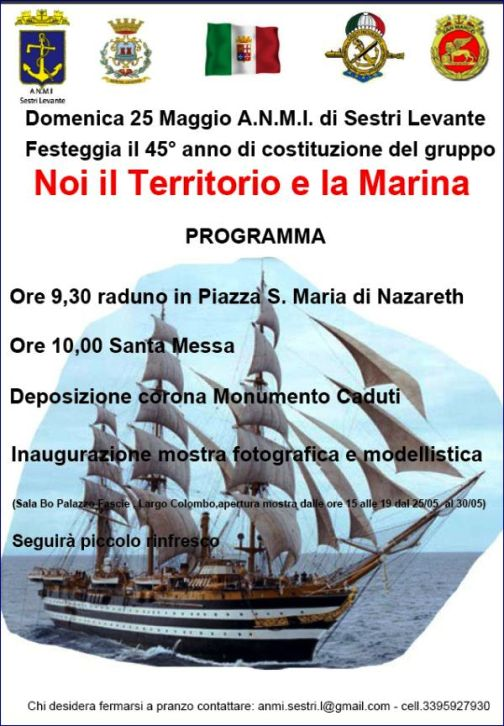 25.5.2014 a Sestri Levante Noi il terriitorio e la Marina - www.lavocedelmarinaio.com
